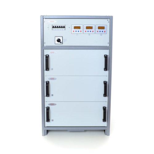 Стабилизатор напряжения трехфазный HHCT SHTEEL 3×14 кВт 63А (7-3) (INFINEON)